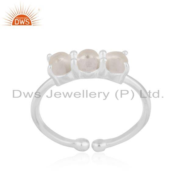 Exporter Crystal Quartz Gemstone 925 Sterling Fine Silver Ring Wholesale Suppliers