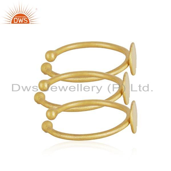 Exporter 18k Yellow Gold Plated 925 Sterling Silver Girls 3 Rings Set Jewelry