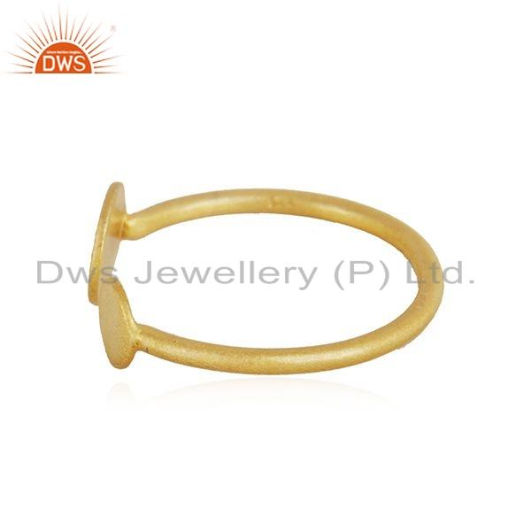 Exporter Handamde Designer 18k Yellow Gold Plated Silver Fashion Ring Jewelry