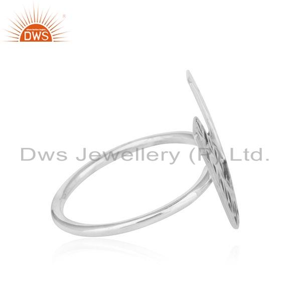 Exporter Texture Oxidies 925 Sterling Silver Initial U Shape Girls Ring Jewelry