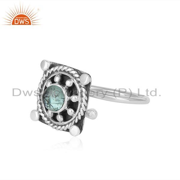 Exporter Green Tourmaline New Look 925 Sterling Silver Oxidized Ring Jewelry