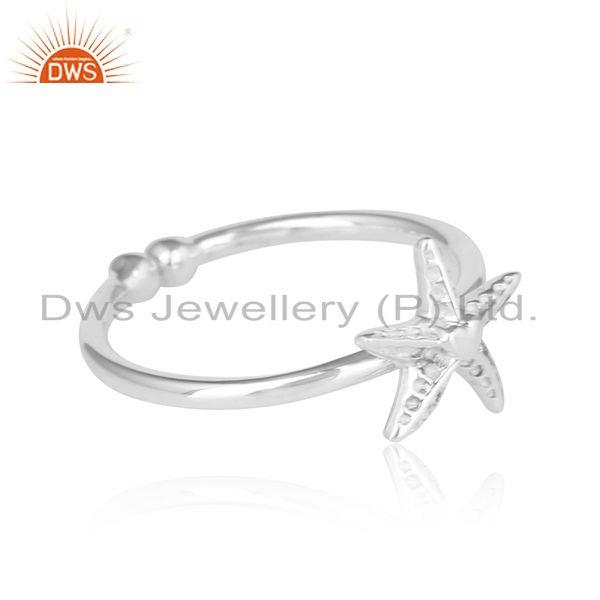 Star fish design 925 sterling fine plain silver ring jewelry