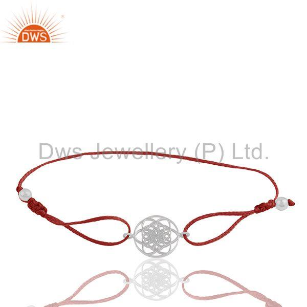 Exporter 925 Sterling Silver Chakra Design Adjustable Bracelet Manufacturers