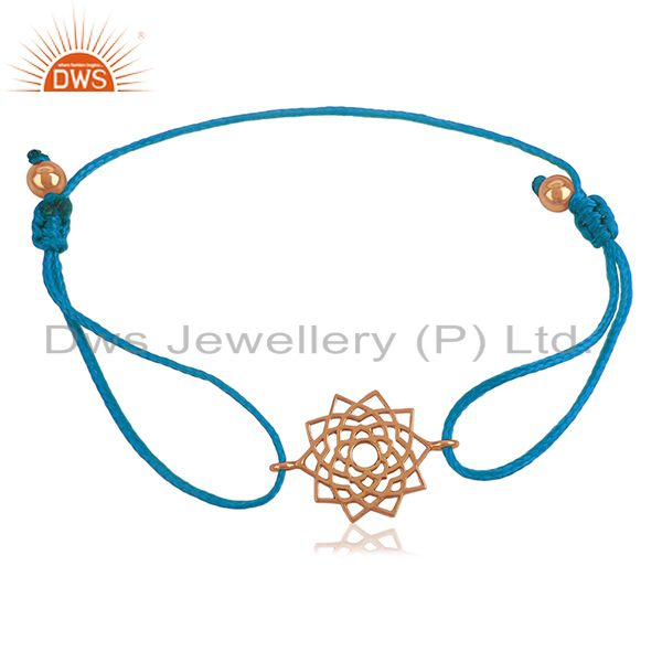 Exporter Star Charm Rose Gold Plated Sterling Plain Silver Bracelet Wholesale