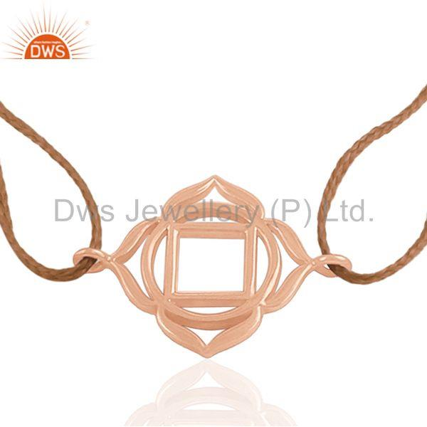 Exporter Rose Gold Plated Genuine Sterling Silver Charm Jewelry Bracelet