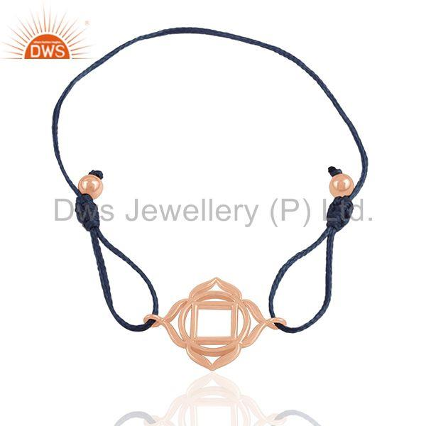 Exporter 18k Rose Gold Plated 925 Silver Charm Jewelry Bracelet Manufacturer