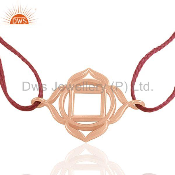 Exporter 925 Silver 18k Rose Gold Plated Charm Bracelet Manufacturer from India