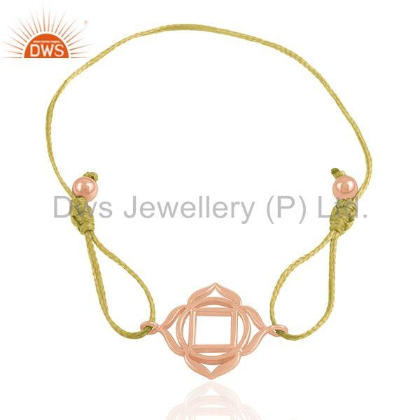 Exporter Rose Gold Plated Charm Bracelet Silver Jewelry Manufacturer from India