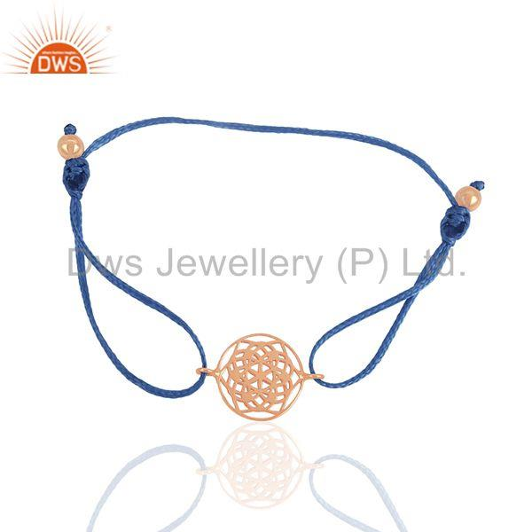 Exporter Indian Jewelry Manufacturer of Rose Gold Plated Silver Charm Bracelet