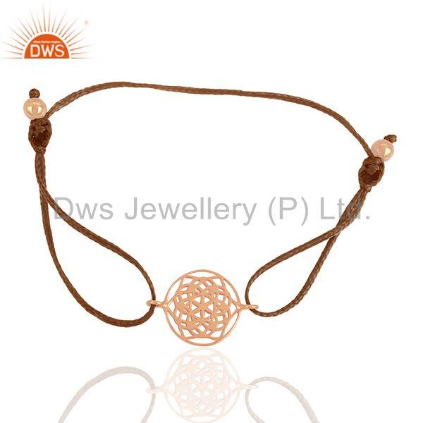 Exporter Chakra Charm Rose Gold Plated 925 Silver Bracelet Wholesale Suppliers