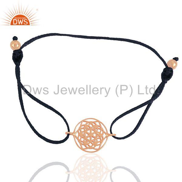 Exporter 18k Rose Gold Silver Indian Charm Bracelet Jewelry Supplier from India