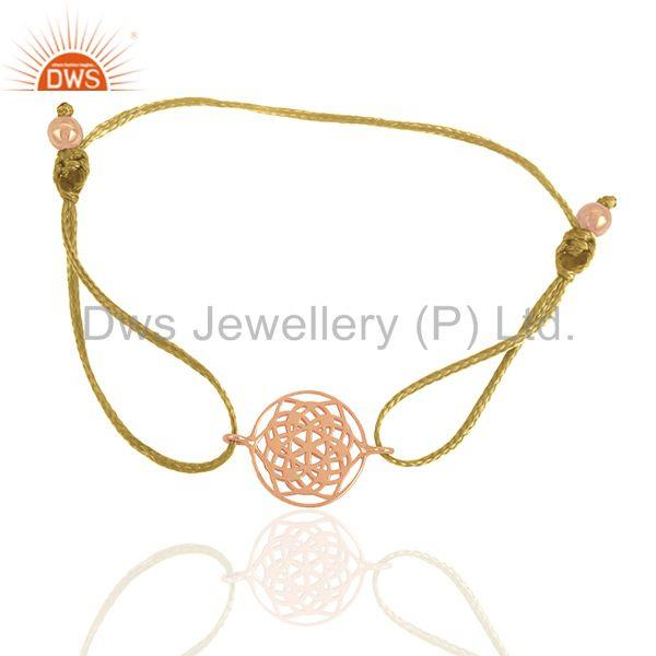 Exporter Rose Gold Plated Solid Silver Charm Unisex Bracelet Manufacturers
