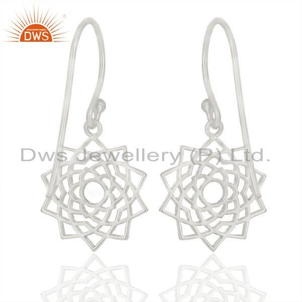 Exporter Fine Sterling Silver Designer Womens Jewelry Earring Manufacturer India