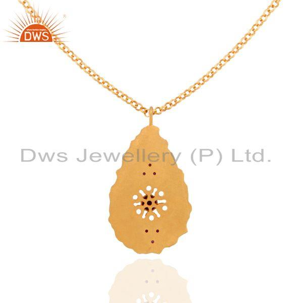 Exporter Amazing Workmanship in 18K Gold Over 925 Silver Designer Fashion Pendant Jewelry
