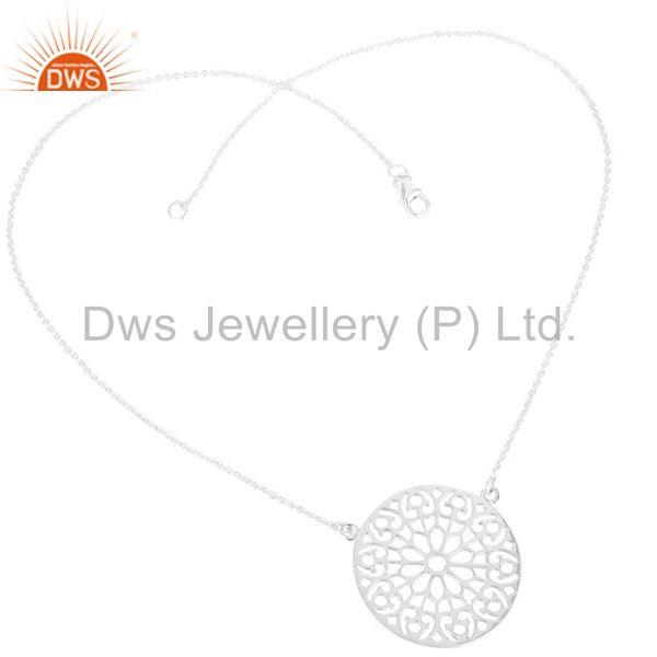Suppliers Solid Sterling Silver Handmade Old Art Design Chain Pendant Necklace Jewellery
