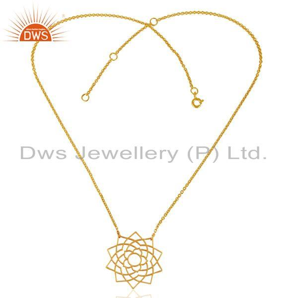 Exporter Chakra Spiritiual Sahasra Pendent Sterling Silver Gold Plated  Wholesale Jewelry