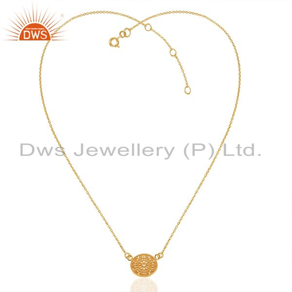 Exporter 18k Gold Plated Handmade 925 Sterling Silver Charm Pendant Wholesale