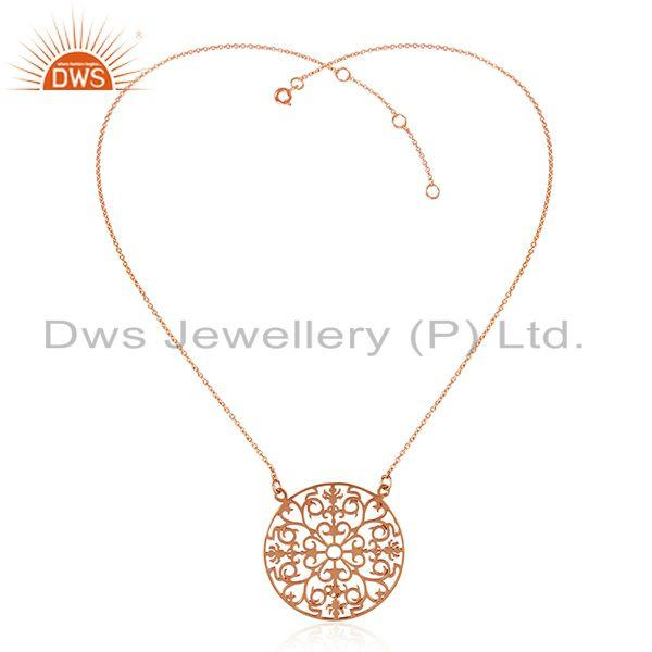 Exporter Rose Gold Plated Designer 925 Sterling Silver Chain Pendant Wholesale