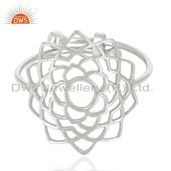 Exporter Fligree Design Fine Sterling 92.5 Silver Customized Ring Manufacturer in India
