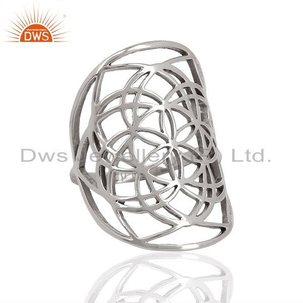 Exporter Customized 925 Sterling Fine Silver Cocktail Ring Manufacturer in Jaipur