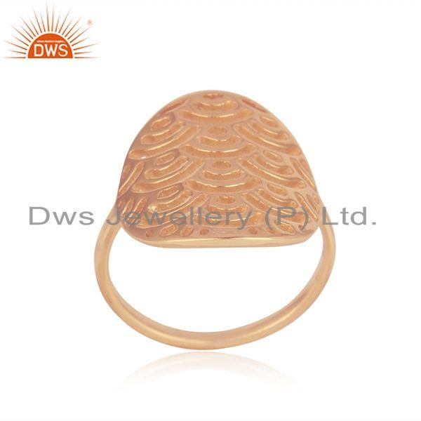 Exporter Rose Gold Plated Sterling Silver Designer Ring For Womens Jewelry
