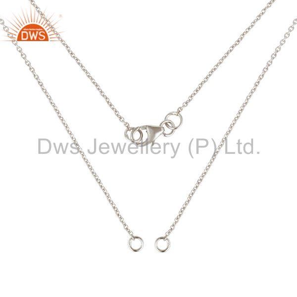 Exporter 925 Sterling Silver Link Chain Necklace With Lobster Lock