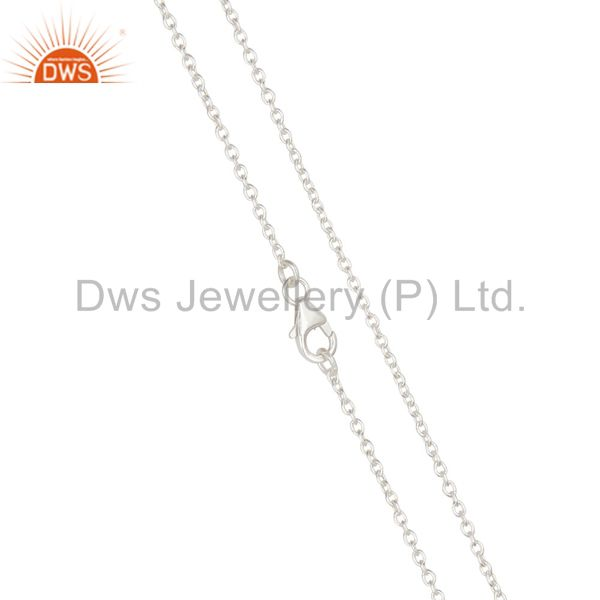 Exporter Link Chain Solid Sterling Silver Findings Assesories for Jewelry
