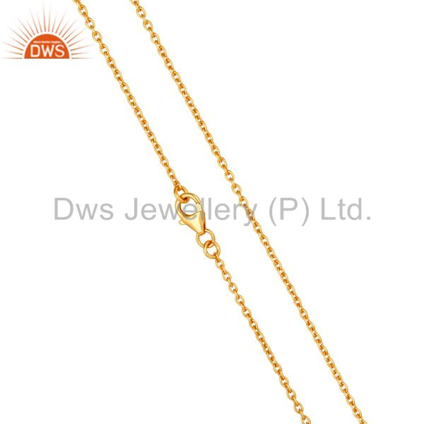 Exporter 18K Gold Plated Link Chain Sterling Silver Findings Assesories for Jewelry