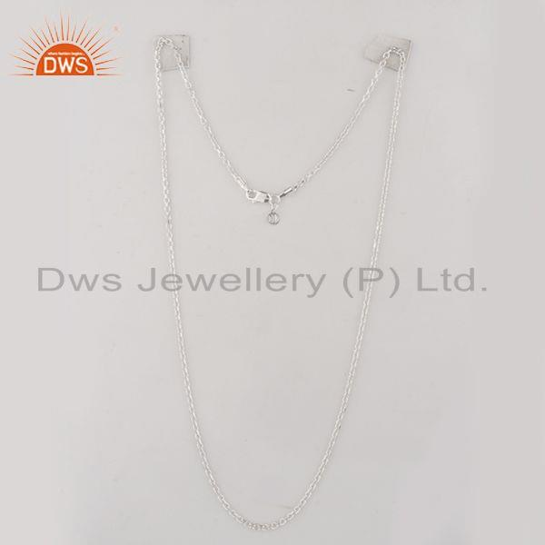 Exporter Handmade 925 Sterling Fine Silver Designer Chain With Charm Jewelry