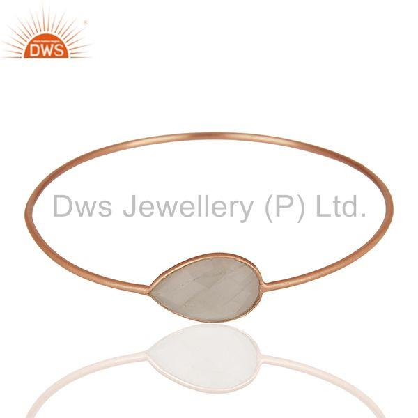 Supplier of Rose gold plated 925 silver crystal bangle jewelry manufacturers