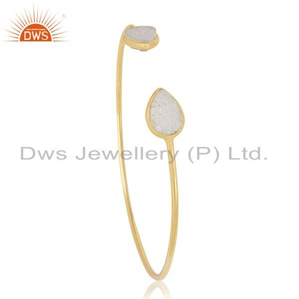 Exporter 18k Gold Plated 925 Sterling Silver Cuff Bracelet Manufacturers