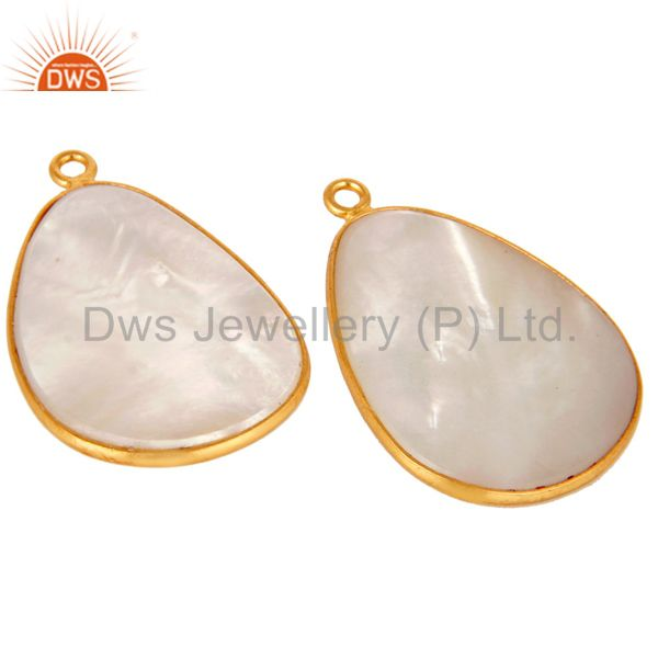 Exporter Mother of Pearl MOP 18K gold Plated Sterling Silver Earring Part Finding Charm