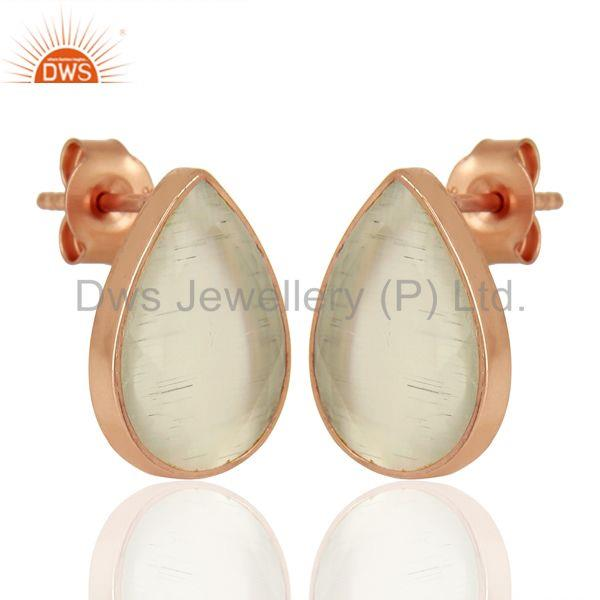 Exporter White Moonstone Silver Gemstone Earrings Jewelry Manufacturer Supplier