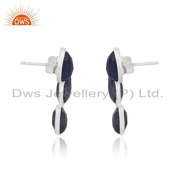 Exporter Lapis Lazuli Gemstone Fine Sterling Silver Earring Manufacturer of Jewelry