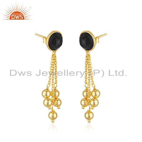 Exporter Gold Plated Designer 925 Silver Chain Earrings Jewelry Supplier