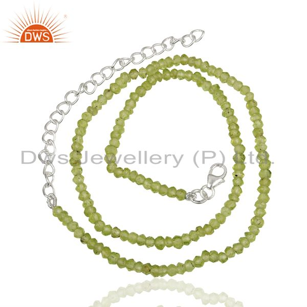 Exporter Peridot Gemstone Sterling Silver Necklace Jewelry Manufacturer