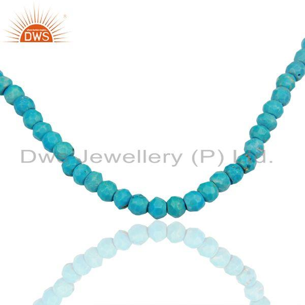 Exporter Natural Turquoise Gemstone Sterling Silver Fashion Necklace Jewelry