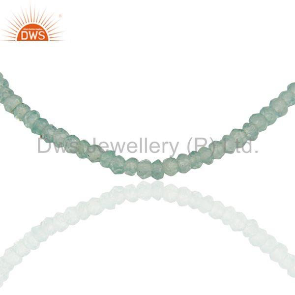 Exporter Apatite Gemstone Handmade Fine Silver Chain Necklace Jewelry Supplier