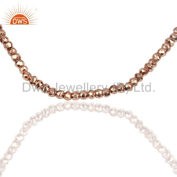 Exporter Rose Pyrite Gemstone Sterling Silver Chain Necklace Jewelry Wholesale
