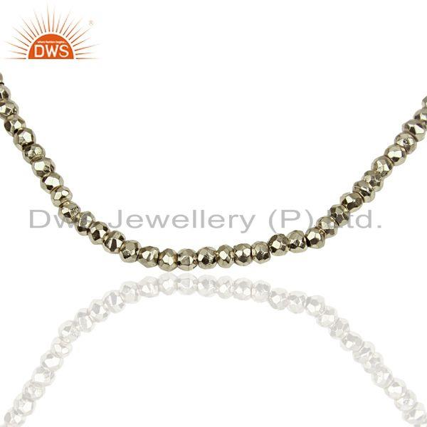 Exporter Silver Pyrite Gemstone 925 Silver Fashion Necklace Supplier Jewelry