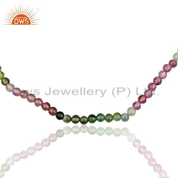 Exporter Multi Tourmaline Gemstone Handmade Sterling Fine Silver Necklace