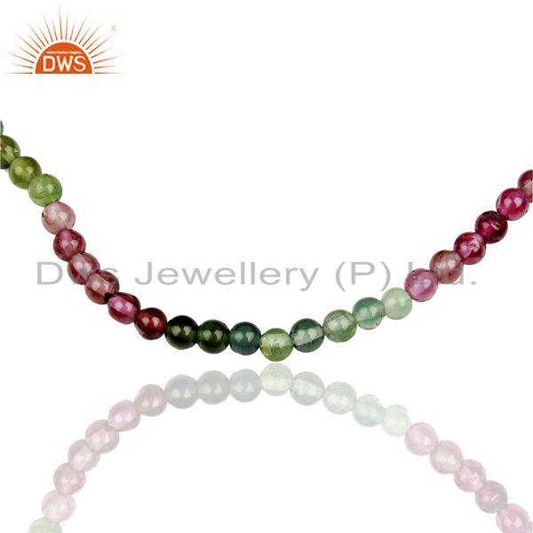 Exporter Tourmaline Gemstone Sterling Fine Silver Chain Necklace Jewelry
