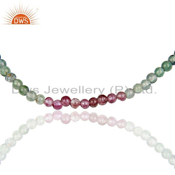 Exporter Multi Tourmaline Supplier Sterling Fine Silver Girls Chain Necklaces