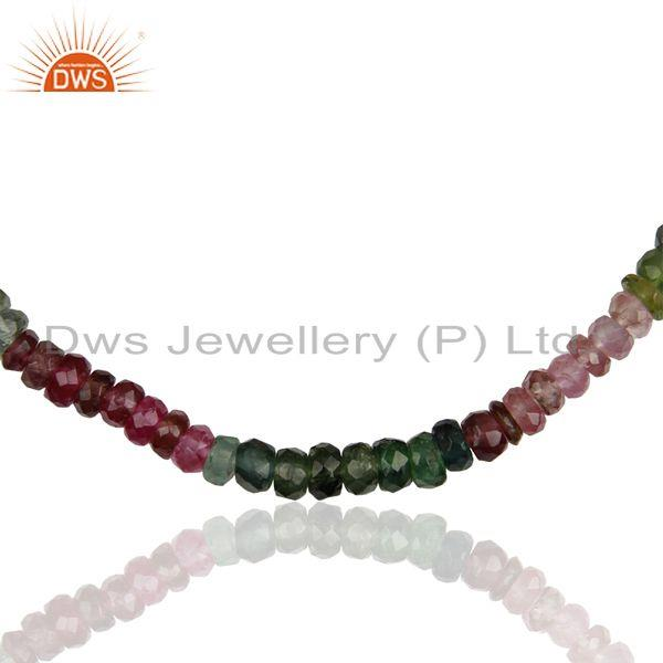 Exporter Sterling Silver Tourmaline Gemstone Womens Necklace Jewelry Supplier