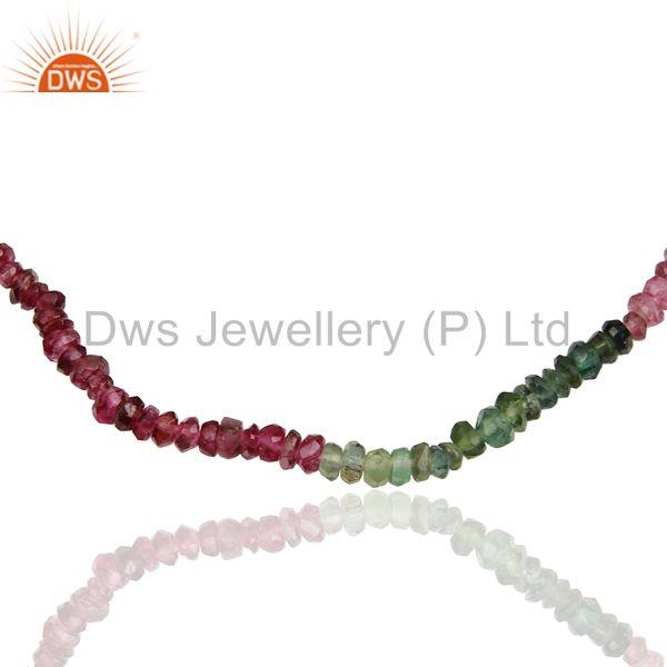 Exporter Wholesale Fine Silver Tourmaline Gemstone Fashion Necklace Supplier