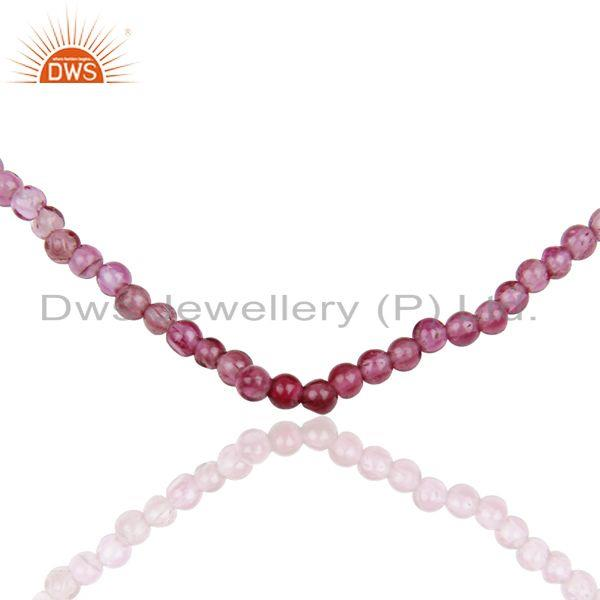 Exporter Pink Tourmaline Gemstone Sterling Silver Necklace Supplier Jewelry