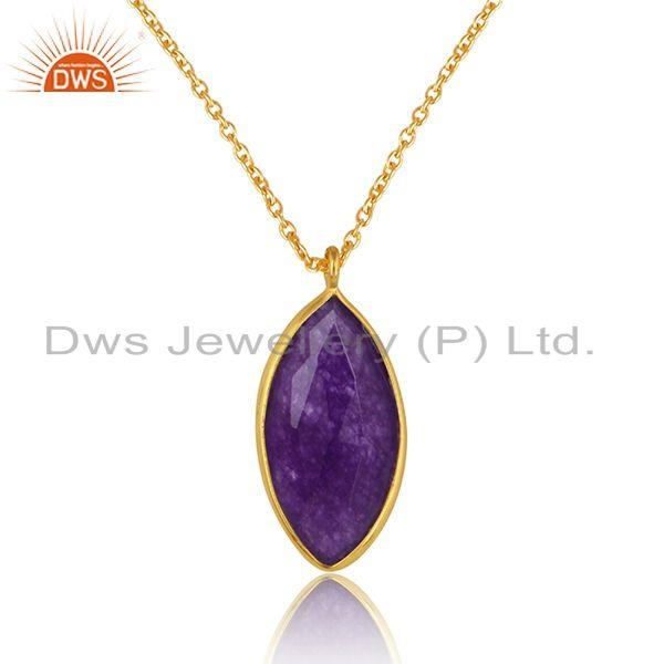 18k gold plated silver aventurine gemstone chain pendants jewelry