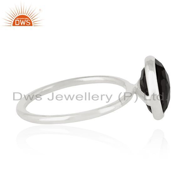 Exporter 925 Sterling Silver Handmade Designer Gemstone Ring Jewelry Supplier for Brands