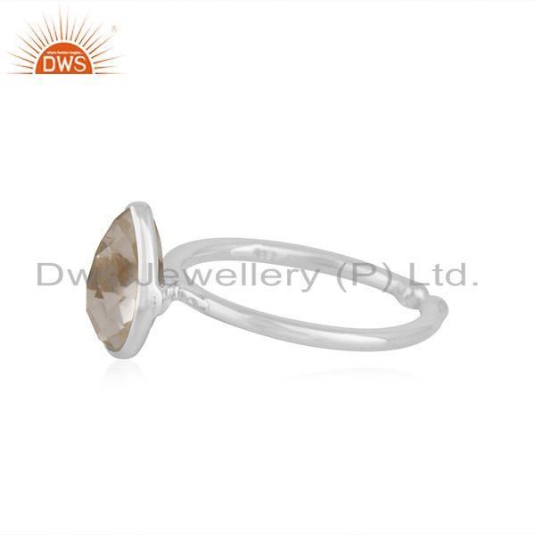Exporter Crystal Quartz Fine Sterling Silver Handmade Ring Jewelry For Girls Wholesale