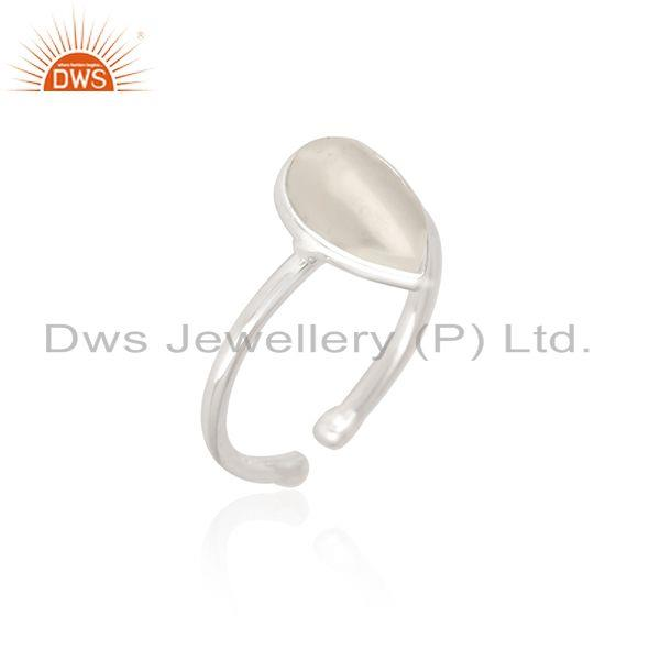 Exporter Natural White Pearl Fine Sterling Silver Ring Manufacturer in Jaipur